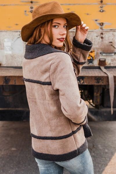 *Erin's Closet* Suede Fur Rider Jacket
