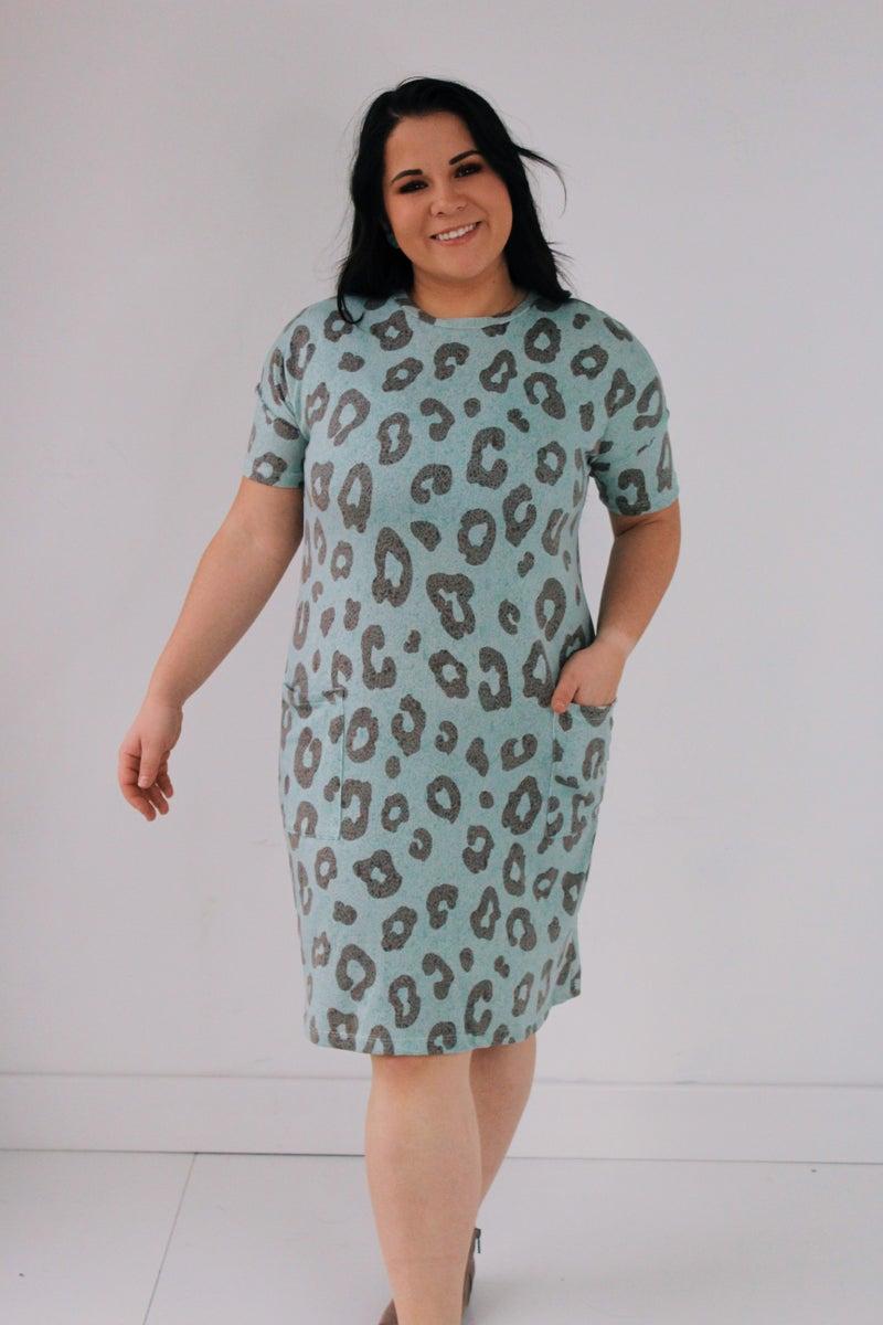 Animal Print Dress w/ Pockets