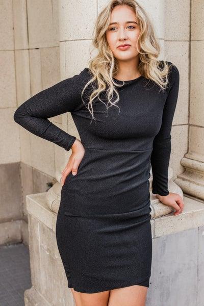 .*Erin's Closet* Black Sparkly Dress