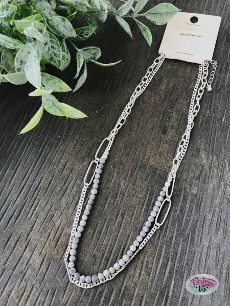 Grey Layered Necklace