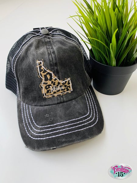 Charcoal Animal Print Idaho BB Hat