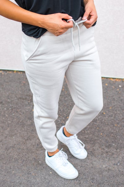 Fleece Lined Bone Joggers