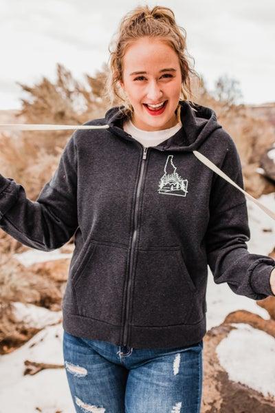 .Idaho Charcoal Zip-Up Jacket