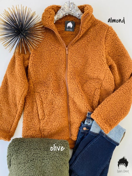 *.Erin's Closet* Sherpa Zip Up Jacket