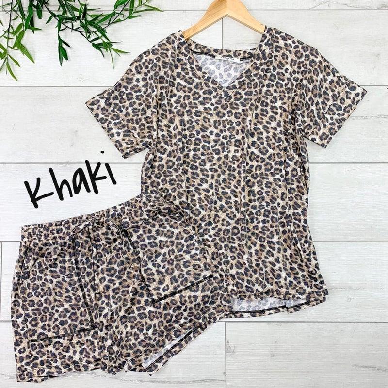 ~Animal Print Shorts Set