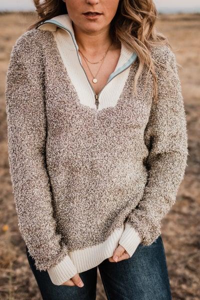 Black & Ivory Pullover