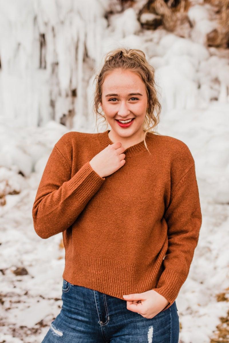 .Hazelnut Knitted Sweater