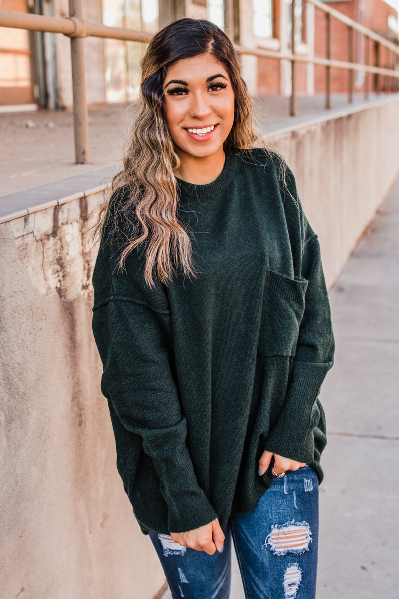 *Erin's Closet* Knit Sweater w/ Pocket