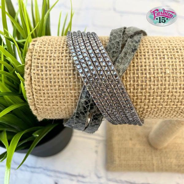 Animal Print Wrap Bracelet