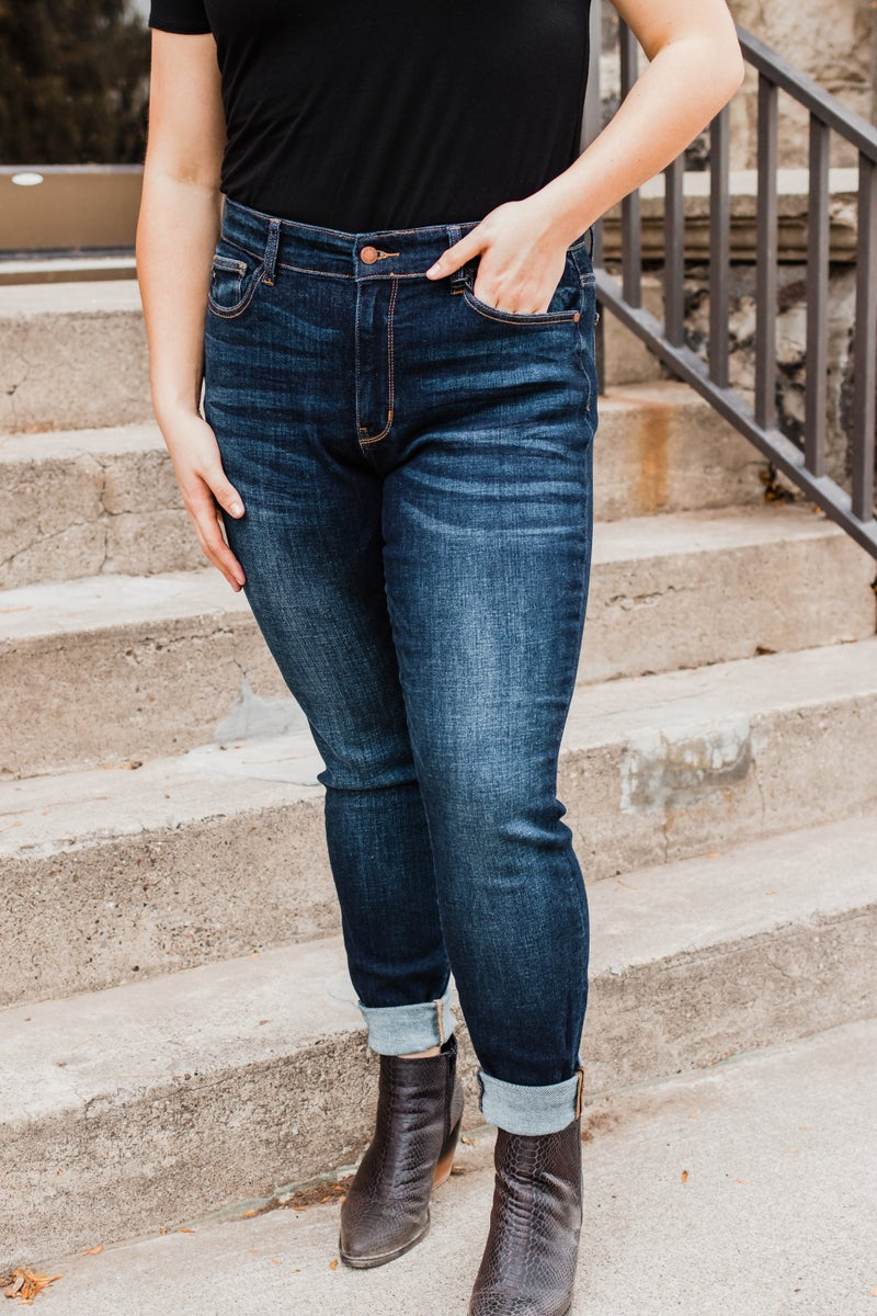 *Erin's Closet* Judy Blue Plus High Waist Skinny Fit Denim