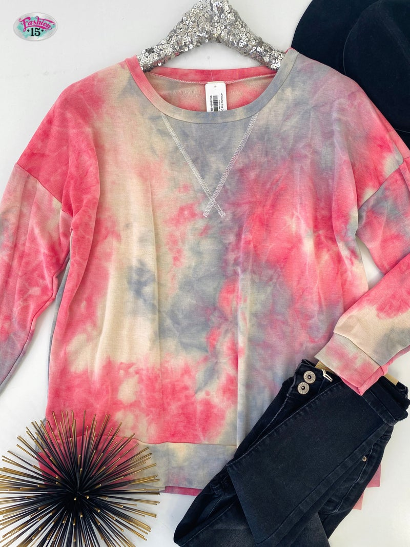 .~Colorful Tye Dye Top