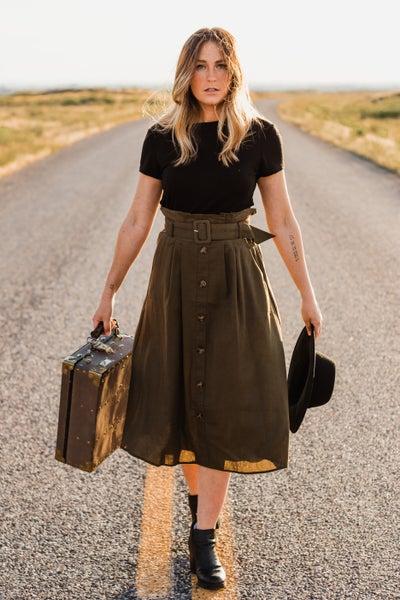 *Erin's Closet* Olive Skirt