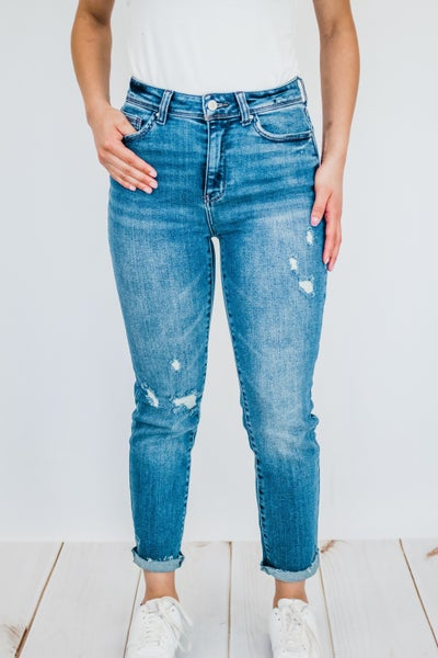 High Rise Dark Wash Denim
