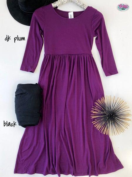 ~3/4 Sleeve Round Neck Dress *Final Sale*