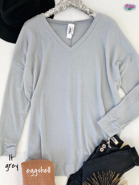 .Plus Waffle Knit Top
