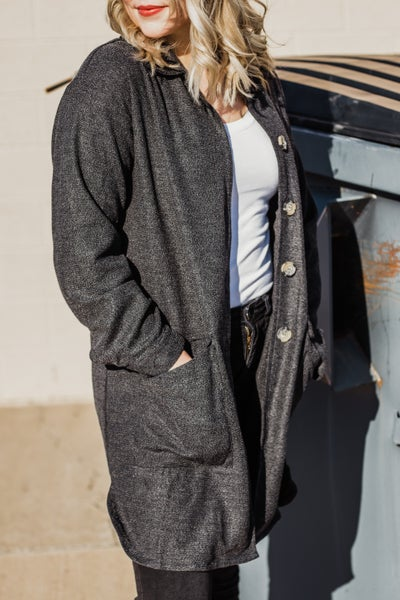 Button-Up Charcoal Jacket