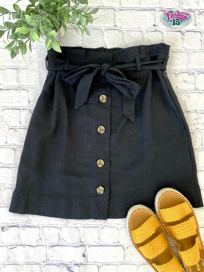 Black Skirt w/ Buttons