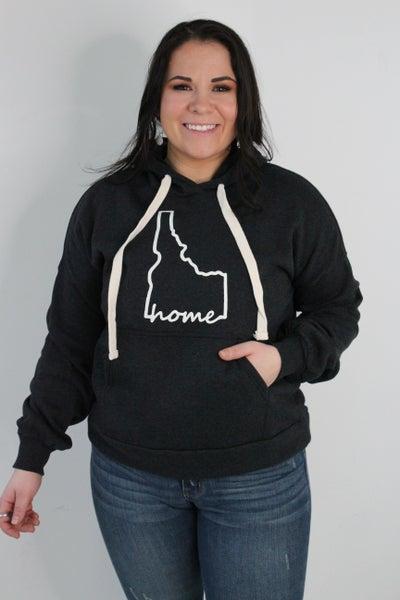 Charcoal Idaho Home Hoodie