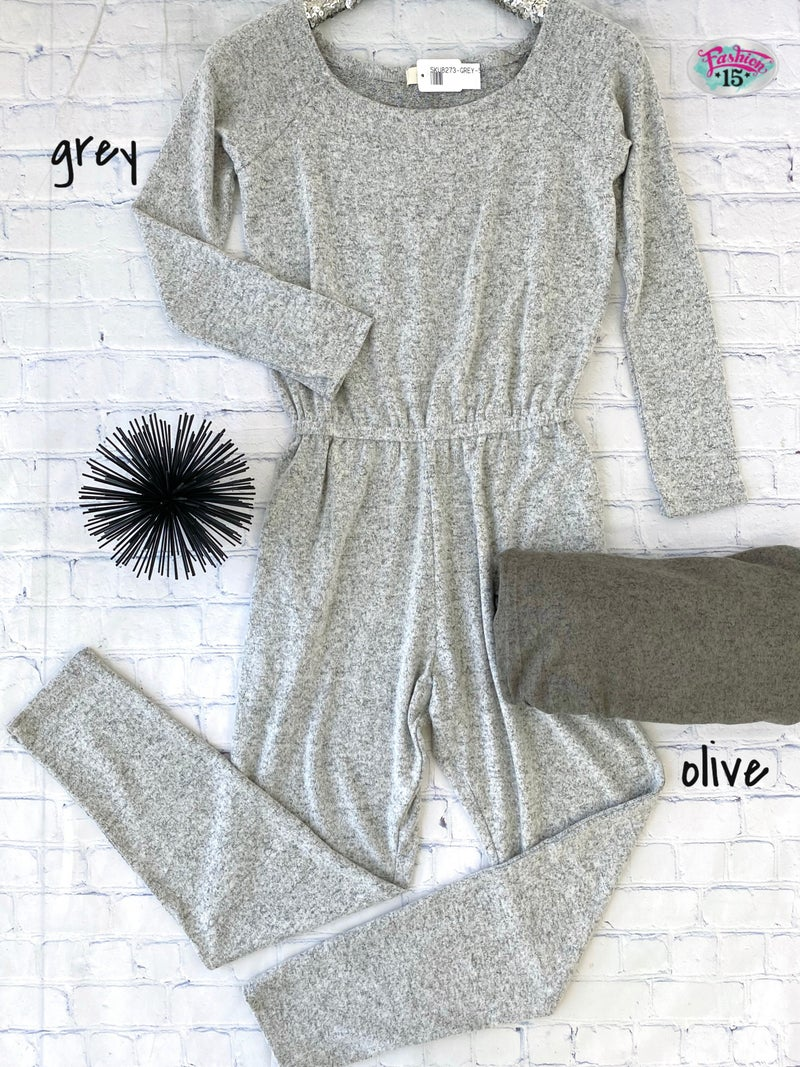 Super Soft Heathered Jumpsuit *Final Sale*