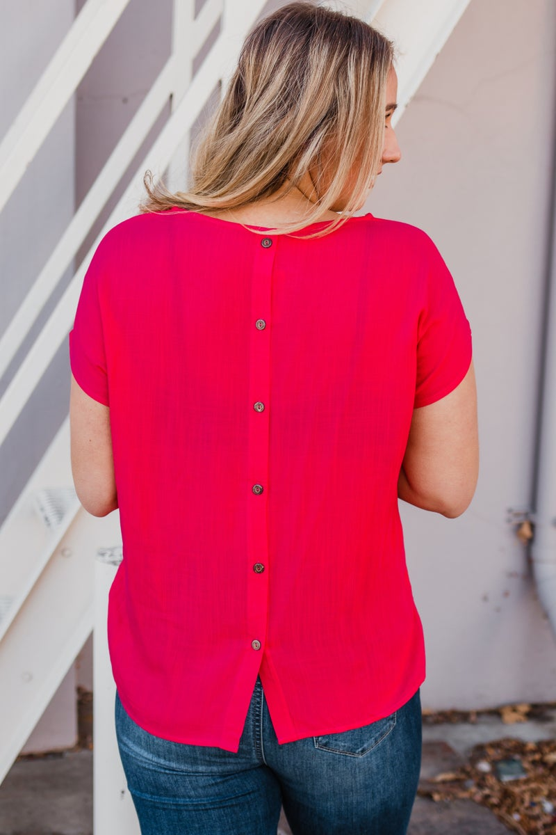 .Pink Top w/ Buttons