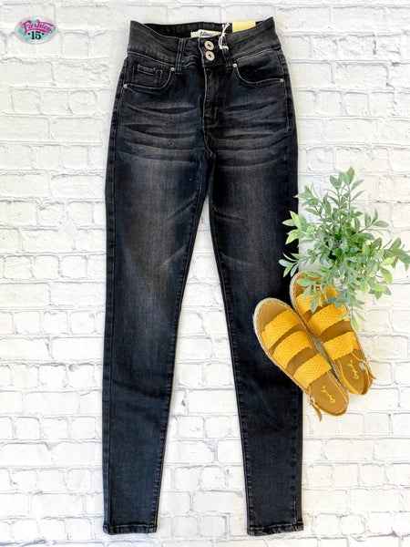 Charcoal Vintage Wash Denim