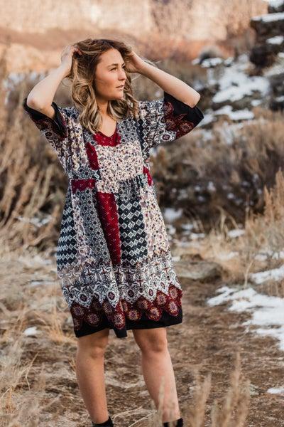 Boho Patterned Dress