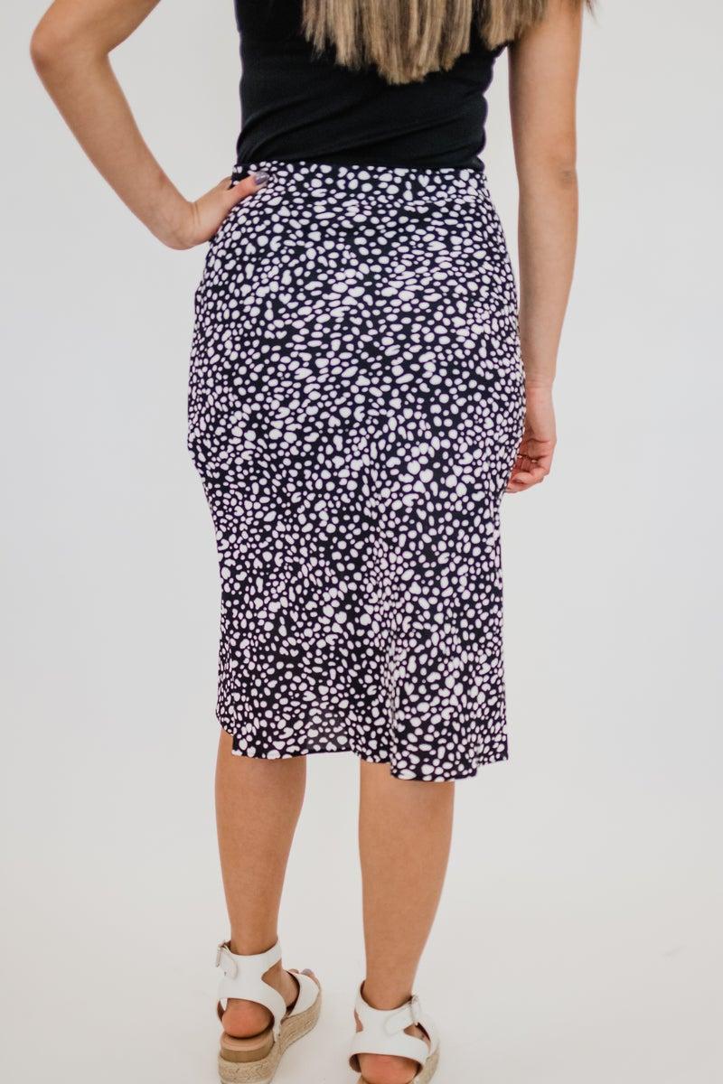 Black & Ivory Spotted Skirt