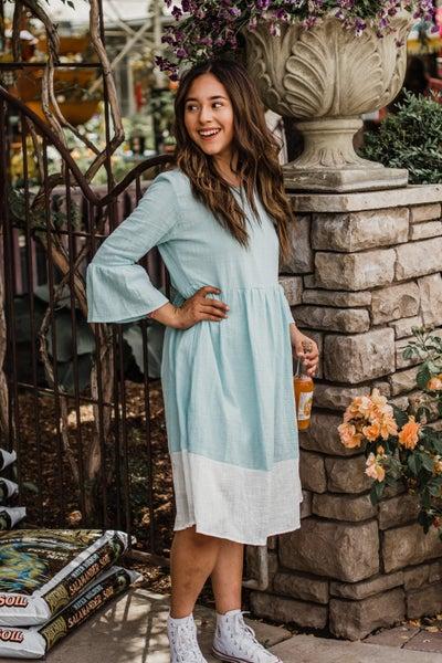 Blue & Ivory Dress *Final Sale*