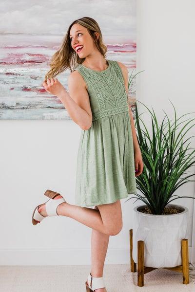 Light Olive Dress
