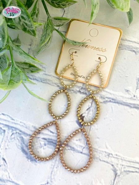 Brown Dangle Earrings
