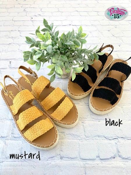 Braided Strappy Sandal *Final Sale*