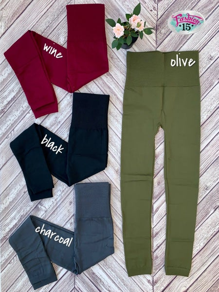 High Waisted Fleece Legging