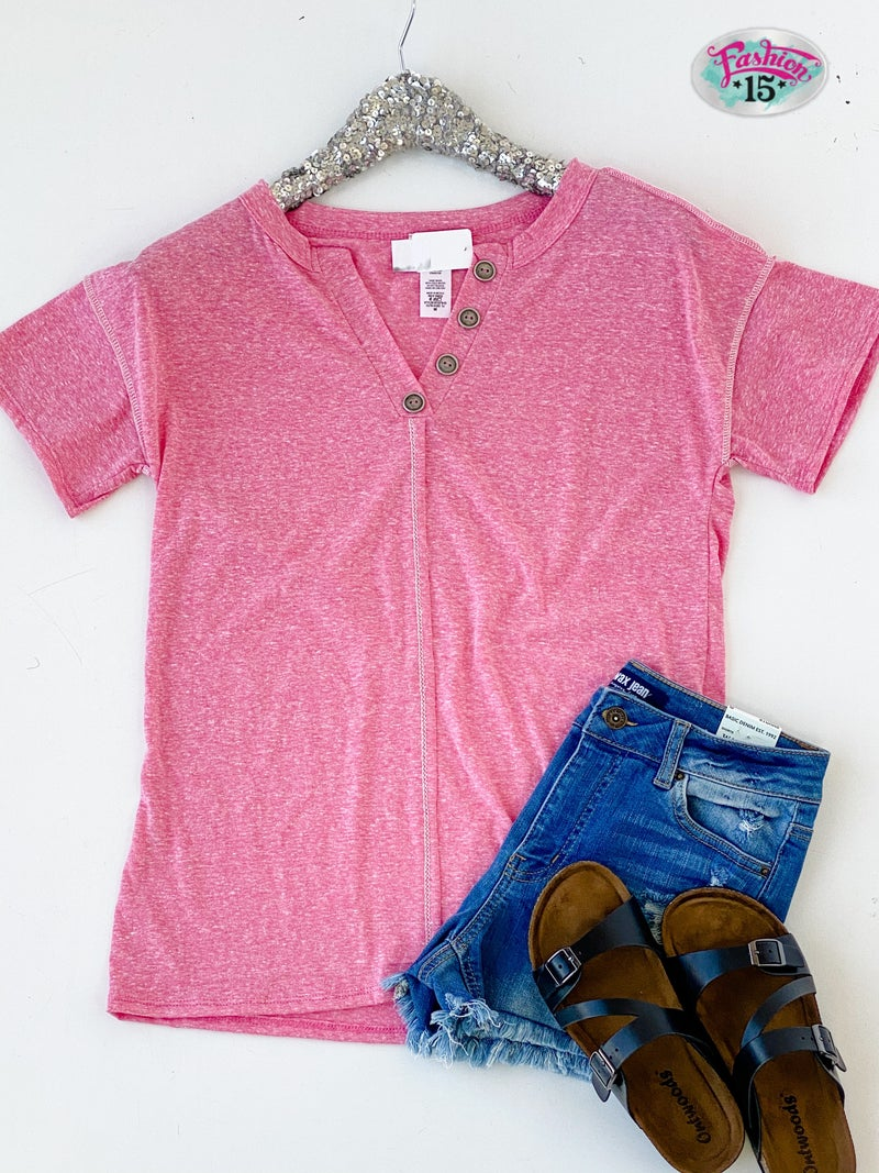 Berry Top w/ Button Details