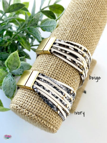.Multi Row Magnetic Bracelet