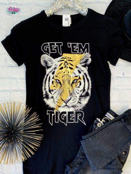 .Get 'Em Tiger Graphic *Final Sale*