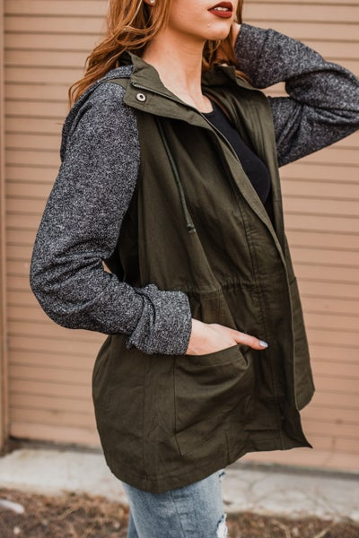 *.Erin's Closet* Utility French Terry Jacket