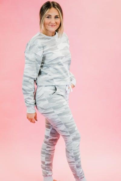 Grey Camo Loungewear