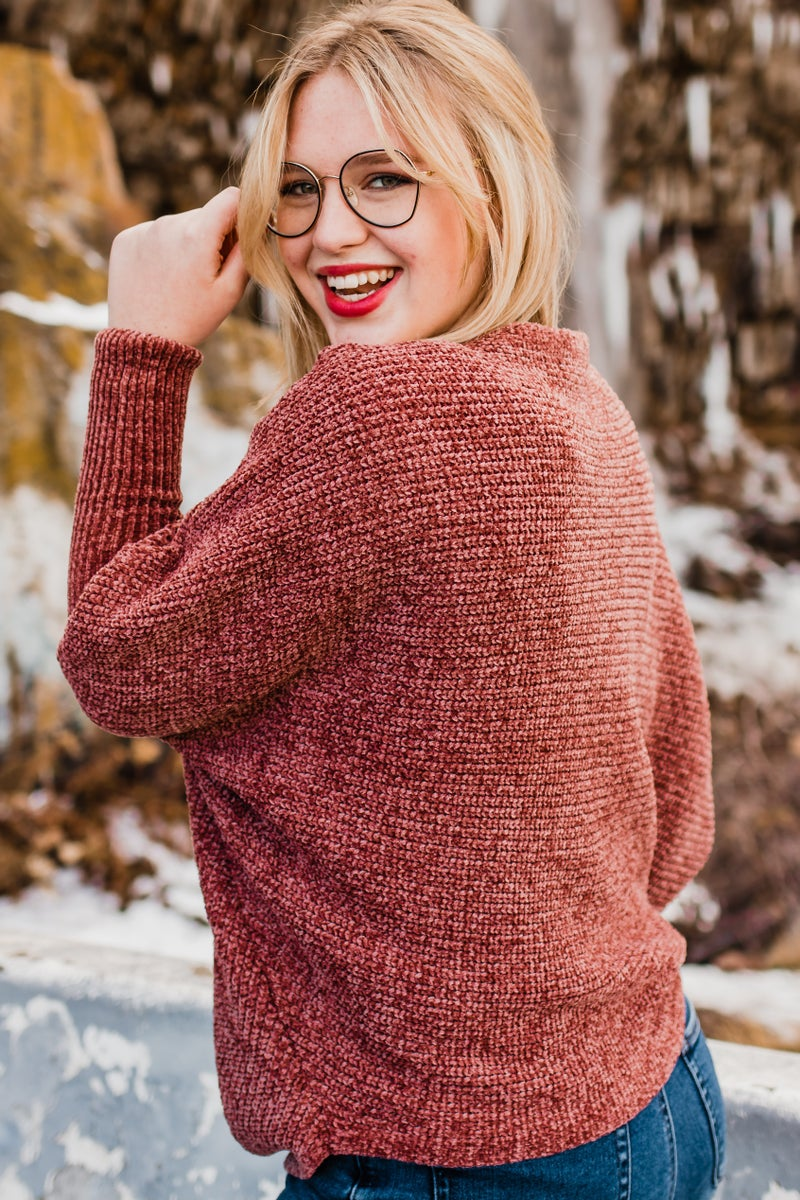 .Chenille Knit Top