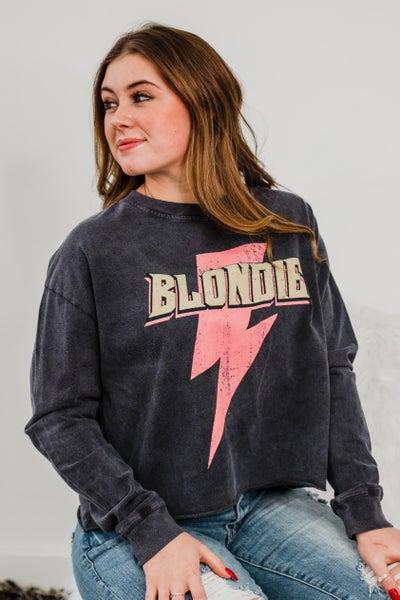 .*Erin's Closet* Charcoal Blondie Graphic *Final Sale*