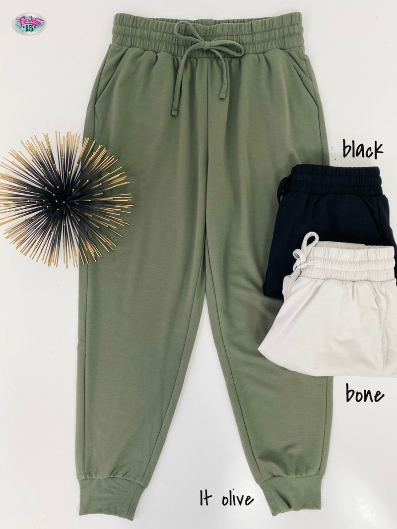 .Solid Joggers