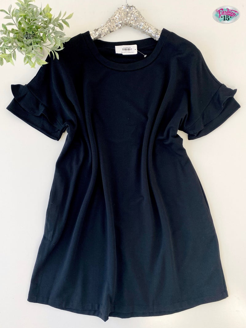 Plus Black Tunic Top