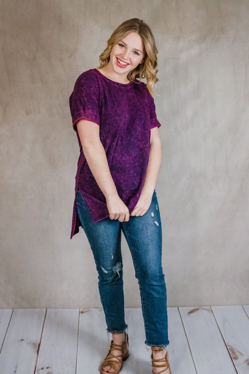 Oversized Mineral Wash Top