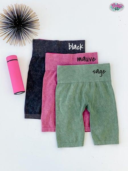 Mineral Wash Seamless Shorts