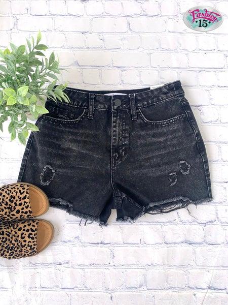 Black Vintage Wash Shorts