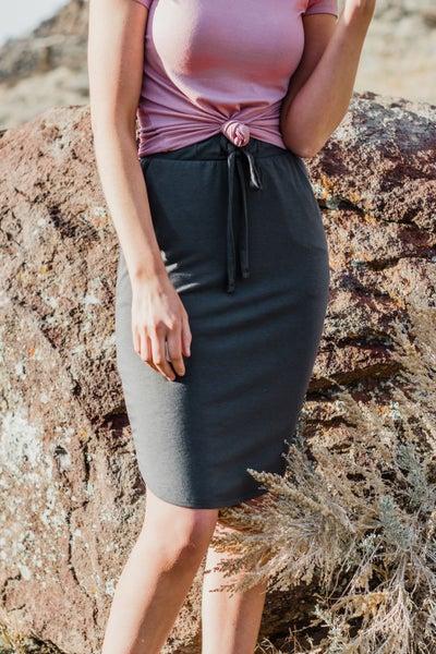 Solid Skirt w/ Drawstring