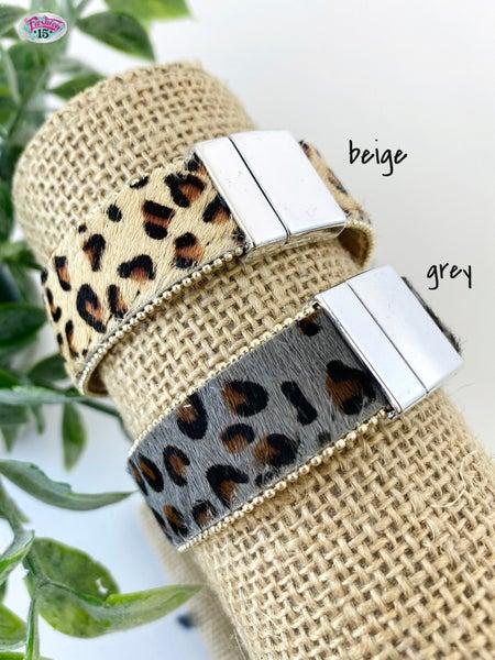 .Animal Print Magnetic Bracelet