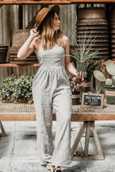 Grey & Taupe Jumpsuit
