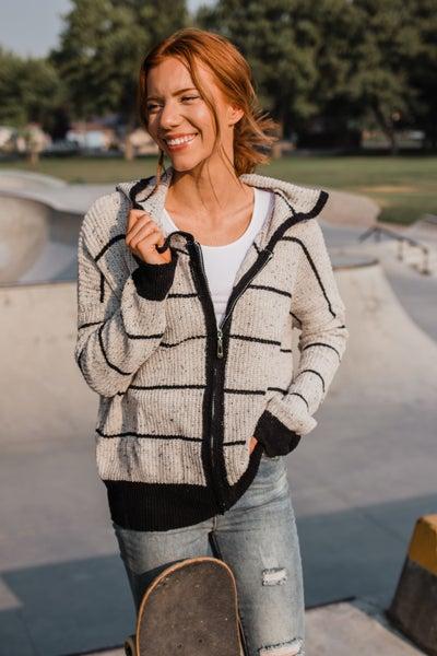 Black & Grey Zip-Up Jacket