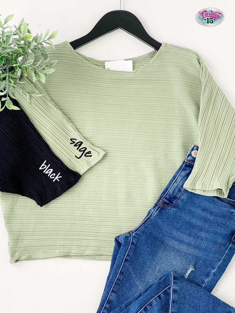 Solid Knit Dolman Top