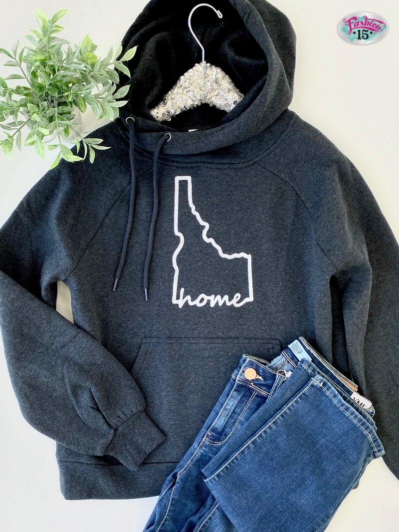 Crossover Charcoal Idaho Home Hoodie